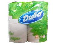 Туалетная бумага серая однослойная  Диво,   4шт\пач