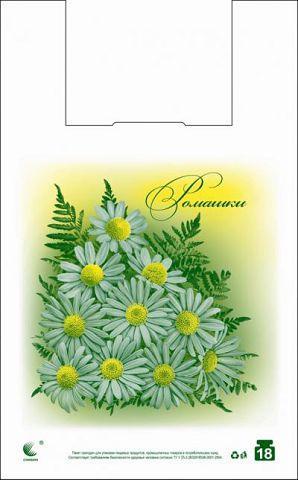 """Пакеты майка с рисунком (29*47) Комсерв  """"Ромашка"""" (250 шт)"""