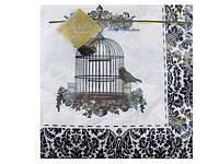 Декоративная бумажная салфетка (ЗЗхЗЗ, 20шт) Luxy  Серебряный винтаж (001) (1 пач)