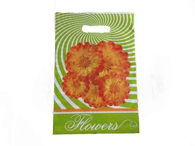 """Пакет полиэтиленовый подарочный маленький с вырубной ручкой  (25*35+3) """"Роза"""" ХВГ (25 шт)"""