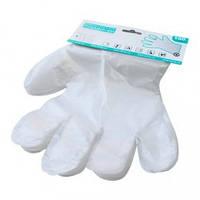 Перчатки одноразовые полиэтиленовые с еврослотом 100шт.
