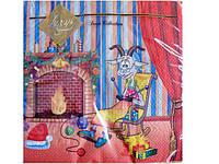 Праздничная Салфетка с детским рисунком Luxy  Коза