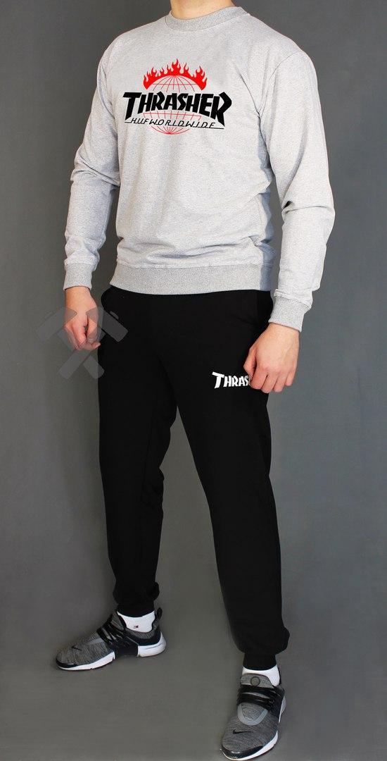 Спортивный костюм Трешер мужской, брендовый костюм Thrasher трикотажный (на флисе и без) копия
