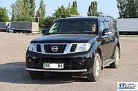 Защита переднего бампера (кенгурятник)  Nissan Pathfinder (2006-13)