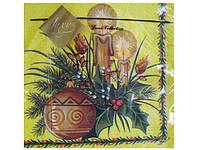 Праздничные цветные салфетки Luxy  Новогодний огонек