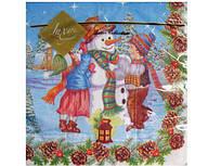 Декоративні серветки Luxy Сніговик святковий