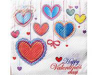 Салфетка для декупажа свадебная (ЗЗхЗЗ, 20шт) La Fleur  Герлянда любви (302) (1 пач)