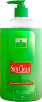 Сан Клин жидкое мыло на основе масла кокоса зеленое с доз. 1000 г