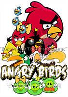 Печать съедобного фото - А4 - Cахарная бумага - Angry Birds №2