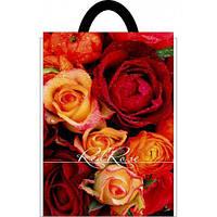 """Пакеты петля ламинат маленький """"Красная роза"""" (25х30), 50шт\пач"""