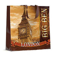 Складная хозяйственная сумка эко многоразовая Биг Бен (40*40), 10 шт\пач
