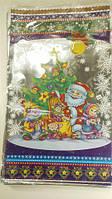Новогодние пакеты для конфет и подарков (30*50) №6, 100 шт\пач