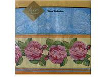 Салфетки бумажные праздничные сервировочные (ЗЗхЗЗ, 20шт) Luxy  Садовая роза (677) (1 пач)