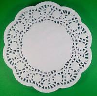 Ажурная бумажная салфетка круглая,  диаметр 21.5см, 100шт\пач