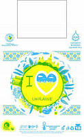 """Пакет полиэтиленовый с рисунком (логотипом) майка """"Украина"""" (29*47), 250 шт\пач"""