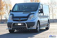 Защита переднего бампера (кенгурятник)  Opel Vivaro (01-13), фото 1
