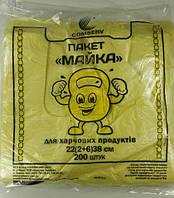 Пакеты майка фасовочные пищевые №22*38 Крепыш Сomserv(200шт)