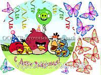 Печать съедобного фото - Ø 21 - Вафельная бумага - Angry Birds №3