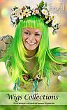 Перука зелений хвостики довгий 75 см, фото 3