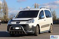 Защита переднего бампера (кенгурятник)  Peugeot Partner 2008+, фото 1