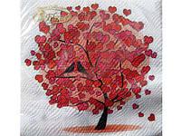 Салфетки бумажные е банкетные (ЗЗхЗЗ, 20шт) La Fleur  Любовное дерево (057) (1 пач)