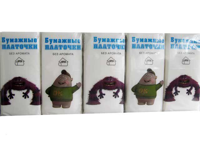 Карманна паперова хустинка  Bonjour стандарт, 10 шт\пач -  Torba Super в Харькове