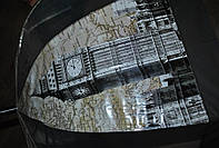 Зонт-трость прозрачный, полуавтомат Monsoon c принтом london
