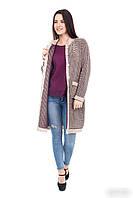Модный  женский вязаный кардиган  с карманами и поговицами  44 ,46, 48 размер, фото 1