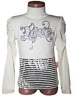 Гольф-стойка подросток LOVE серебряная тесьма (рост от 116 см до 152 см)