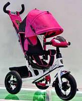 ТВелосипед трехколесный Azimut Air Lambortrike L2B ( Lamborghini)розовый надувные колеса с фарой