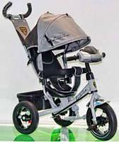Велосипед трехколесный Azimut Air Lambortrike L2B ( Lamborghini) серый надувные колеса с фарой