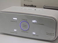 Колонка портативная Bluetooth DOSS SoundBox White премиум звук