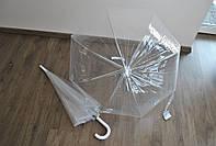 Зонт-трость прозрачный,  Monsoon полуавтомат