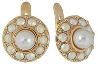 """Серьги """"Бариэри"""" с кристаллами Swarovski, покрытые золотом (j710p170)"""