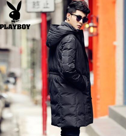 Мужское пальто-пуховик. Молодежное с капюшоном. Модель 6220.