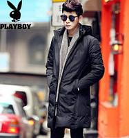 Мужское пальто-пуховик. Молодежное с капюшоном. Модель 6220., фото 2