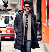 Мужское пальто-пуховик. Молодежное с капюшоном. Модель 6220., фото 3