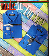 Рубашка школьная для мальчиков, хлопок, Турция, размеры 136-154 см