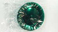 Тарелка одноразовая 205 Стекловидная Юнита зеленая (10 шт)