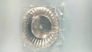 Тарелка одноразовая 205 Стекловидная Юнита прозрачная (10 шт)