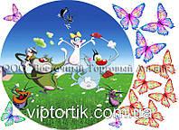 Печать съедобного фото - Ø 21 - Вафельная бумага - Огги и Тараканы №3