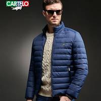 Мужская спортивная куртка пуховик. Осенняя куртка. Модель 6221.