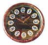 Настенные часы Compass Quartz под мрамор с позолотой (белый, коричневый)