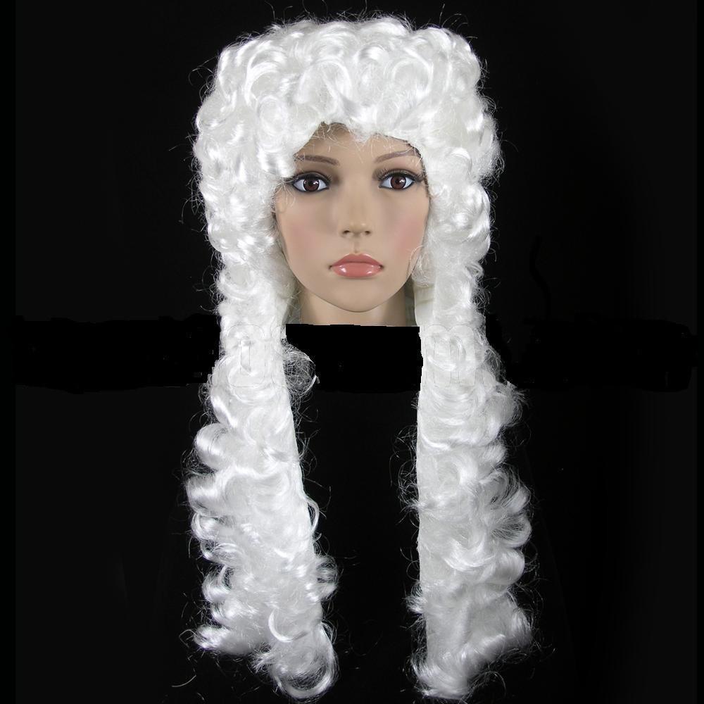 Парик Судьи/ Лорда кудрявый белый платиновый