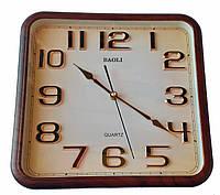 Настенные часы Baoli Quartz золотые цифры (белый, коричневый)