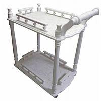 Белый сервировочный столик деревянный