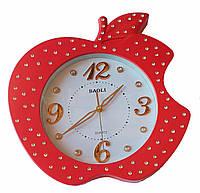 Настенные часы Apple Baoli Quartz золотые цифры со стразами (белый, красный, желтый, зеленый, черный)