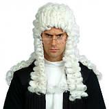 Парик Судьи/ Лорда кудрявый белый платиновый , фото 4