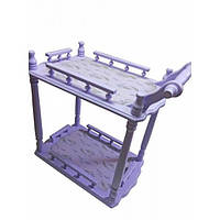 Столик сервировочный деревянный Лаванда