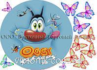 Друк їстівного фото - Ø 21 - Вафельна папір - Оггі і Таргани №6